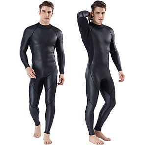 cheap Wetsuits, Diving Suits & Rash Guard Shirts-MYLEDI Men's Full Wetsuit 3mm CR Neoprene Diving Suit Windproof Anatomic Design High Elasticity Long Sleeve Back Zip Solid Colored Autumn / Fall Spring Summer / Winter