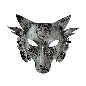 cheap Men's & Women's Halloween Costumes-Cosplay Costume Mask Halloween Mask Inspired by Werewolf Golden Silver Halloween Halloween Masquerade Adults' Men's Women's