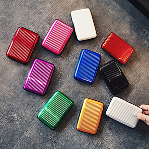 cheap Travel Security-Passport Holder & ID Holder Aluminum Alloy Portable / Multi-function Solid Colored