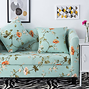 cheap Artificial Plants-2019 Premium Stylish Simplicity Print Sofa Cover Stretch Couch Slipcover Super Soft Fabric Retro Hot Sale Couch Cover