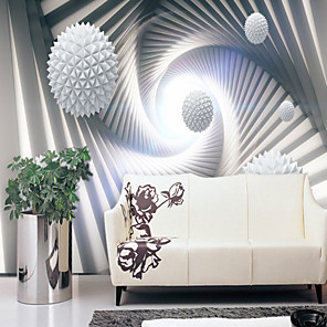 cheap Wallpaper-Wallpaper / Mural Canvas Wall Covering - Adhesive required Geometric / Art Deco / 3D