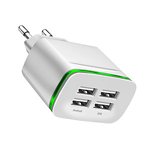 cheap USB Cables-USB Charger -- 4 Desk Charger Station New Design EU Plug Charging Adapter