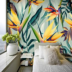 levne Tapety-barevné tropické listy tapety nástěnné plátno obložení