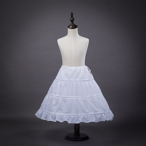cheap Historical & Vintage Costumes-Petticoat Hoop Skirt Tutu Under Skirt 1950s White Petticoat / Kid's / Crinoline