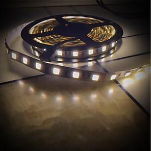 cheap LED Strip Lights-BRELONG 5M LED Light Strips Flexible Tiktok Lights 5025 10mm Bare Board Double Color Temperature Lamp With 300LED DC12V Black 1 pc