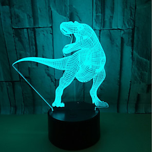 cheap 3D Night Lights-3D Nightlight Color-Changing / with USB Port Touch USB 1pc