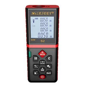 cheap Level Measuring Instruments-Mileseey S2 Laser Distance Meter 60M Laser Rangefinder Laser Range Finder Tape ruler Measure Area/volume Tool