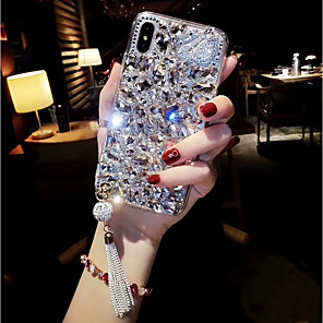 cheap iPhone Cases-Case For Apple iPhone XS / iPhone XR / iPhone XS Max Rhinestone Back Cover Rhinestone Hard Acrylic