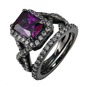 cheap Jewelry Sets-Women's Ring 1pc Purple Alloy Gift Daily Jewelry Lovely