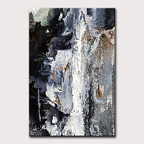 cheap Abstract Paintings-Oil Painting Hand Painted - Abstract Vintage Modern Rolled Canvas