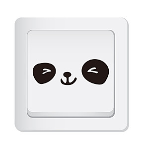 cheap Wall Stickers-Light Switch Stickers - Animal Wall Stickers Animals Living Room / Bedroom / Kitchen / Re-Positionable