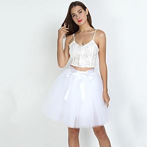 cheap Pearl Necklaces-Petticoat Hoop Skirt Tutu Under Skirt 1950s Green Blue Pink Petticoat / Crinoline
