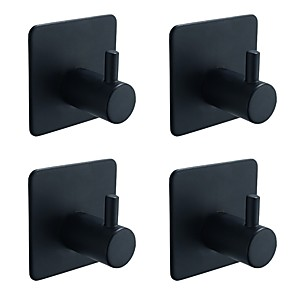 cheap Bathroom Gadgets-Robe Hook Self-adhesive Contemporary / Antique Stainless Steel 4pcs - Bathroom towel ring Wall Mounted