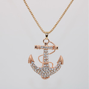 cheap Earrings-Women's Pendant Necklace Necklace Classic Anchor Statement Unique Design Elegant Trendy Chrome Rose Gold Plated Rose Gold 70 cm Necklace Jewelry 1pc For Carnival Street Birthday Bikini Festival