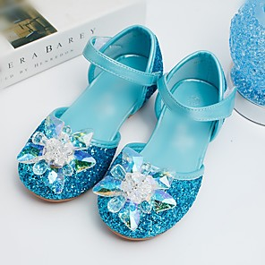 cheap Movie & TV Theme Costumes-Girls' Sandals Comfort / Flower Girl Shoes / Children's Day PU Toddler(9m-4ys) / Little Kids(4-7ys) Sparkling Glitter Blue / Silver Spring / Summer / Wedding / Party & Evening / Wedding / Rubber