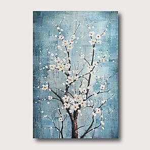 povoljno Slike za cvjetnim/biljnim motivima-Hang oslikana uljanim bojama Ručno oslikana - Sažetak Comtemporary Moderna Uključi Unutarnji okvir