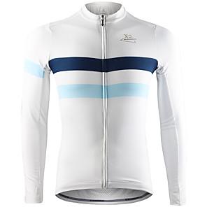 povoljno Biciklističke majice-Mountainpeak Muškarci Dugih rukava Biciklistička majica Zima Runo Spandex Siva Zelen Sky blue Bicikl Biciklistička majica Majice Ugrijati Quick dry Ovlaživanje Sportski Odjeća / Rastezljivo