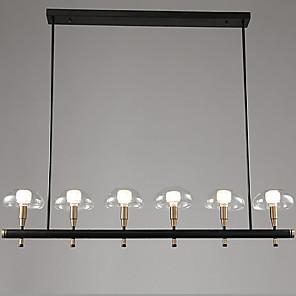 cheap Pendant Lights-ZHISHU 6-Light 120 cm Creative / New Design Chandelier Metal Glass Geometrical / Novelty Painted Finishes Nature Inspired / Retro 110-120V / 220-240V