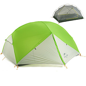 cheap Tents, Canopies & Shelters-Naturehike 2 person Backpacking Tent Outdoor Portable Windproof Rain Waterproof Double Layered Camping Tent >3000 mm for Hiking Camping Traveling 210*255*100 cm