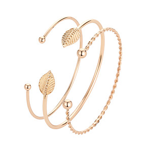 cheap Accessories-Women's Cuff Bracelet Classic Stylish Korean Alloy Bracelet Jewelry Gold For Daily