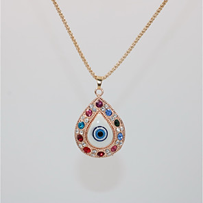 cheap Pendant Necklaces-Men's Women's Pendant Necklace Statement Necklace Classic Drop Evil Eye Statement European Trendy Rock Chrome Rose Gold 70 cm Necklace Jewelry 1pc For Halloween Carnival Holiday Club Bar