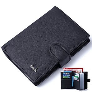 cheap Videogame Cosplay Accessories-Men's Bags Cowhide Wallet for Daily Black