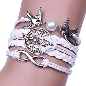 cheap Pendant Necklaces-Men's Women's Wrap Bracelet Braided Cheap Hip-Hop Cord Bracelet Jewelry White For Gift Daily
