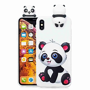 cheap iPhone Cases-Case For Apple iPhone XS / iPhone XR / iPhone XS Max Pattern Back Cover Cartoon / Panda Soft TPU