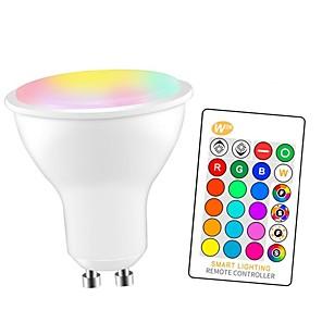 cheap LED Smart Bulbs-1pc 5 W LED Smart Bulbs 350 lm GU10 E26 / E27 3 LED Beads SMD 5050 Smart Dimmable Party RGBW 85-265 V / RoHS