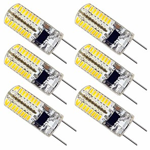 cheap LED Bi-pin Lights-6pcs 2.5 W LED Bi-pin Lights 180 lm G8 T 64 LED Beads SMD 3014 Lovely Warm White Cold White 110-130 V