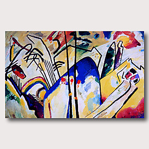 cheap Famous Paintings-Oil Painting Hand Painted - Abstract Comtemporary Modern Stretched Canvas