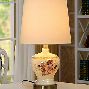 cheap Table Lamps-Table Lamp Floral Modern Contemporary For Bedroom Indoor Ceramic 220V