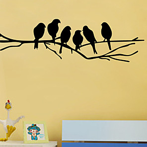 cheap Wall Stickers-Decorative Wall Stickers - Animal Wall Stickers Animals Living Room / Bedroom / Kitchen