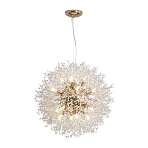 povoljno Dizajn kruga-JSGYlights 60 cm Crystal / New Design Privjesak Svjetla Metal Glob Electroplated Chic & Moderna / Glob 110-120V / 220-240V