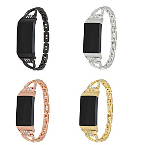 cheap Smartwatch Bands-Watch Band for Fitbit Charge 3 Fitbit Modern Buckle Metal Wrist Strap