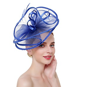 cheap Hair Jewelry-Women's Fascinators For Prom Princess Fabric Blushing Pink Red White