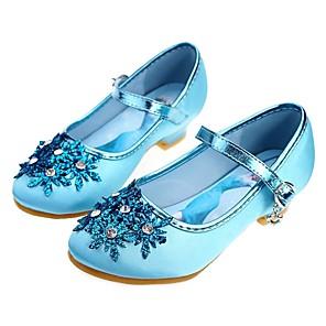 cheap Movie & TV Theme Costumes-Girls' Heels Flower Girl Shoes / Tiny Heels for Teens / Children's Day Satin Toddler(9m-4ys) / Little Kids(4-7ys) / Big Kids(7years +) Rhinestone / Beading Blue / Silver Spring / Fall / Wedding