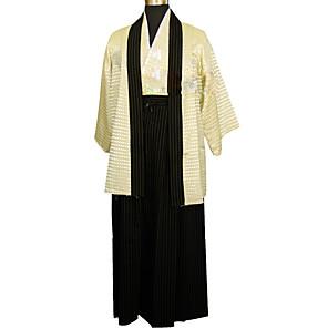 cheap Anime Costumes-Adults' Men's Kimonos Outfits Japanese Traditional Kimono For Halloween Daily Wear Festival Cotton / Linen Blend Top Kimono Coat Waist Belt