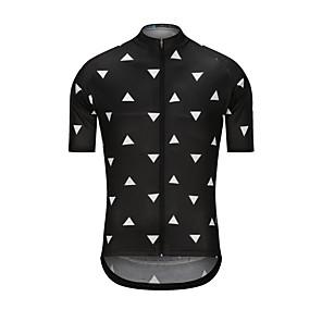 cheap Cycling Jerseys-Men's Short Sleeve Cycling Jersey Black Bike Jersey Top Sports Terylene Clothing Apparel / High Elasticity