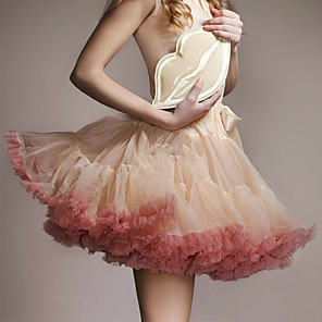 cheap Historical & Vintage Costumes-Dress Petticoat Hoop Skirt Tutu 1950s Cotton Blue Pink Fuchsia Petticoat / Under Skirt / Crinoline