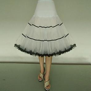 cheap Wedding Slips-Petticoat Hoop Skirt Tutu Under Skirt 1950s Tulle Red / black Black / Red Black & White Petticoat / Crinoline