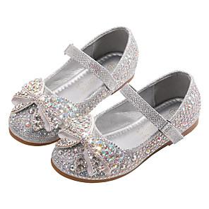 cheap Kids' Flats-Girls' Comfort / Flower Girl Shoes / Children's Day PU Flats Toddler(9m-4ys) / Little Kids(4-7ys) Bowknot / Sparkling Glitter / Sequin Blue / Silver Spring / Fall / Party & Evening / Rubber