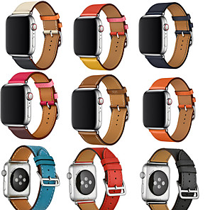 cheap Smartphones-Watch Band for Apple Watch Series 5/4/3/2/1 Apple Leather Loop Genuine Leather Wrist Strap