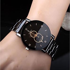 cheap Sport Watches-Men's Dress Watch Quartz Stainless Steel Black Casual Watch Analog Casual Fashion fancy Simple watch - Black