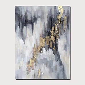 cheap Oil Paintings-Oil Painting Hand Painted - Abstract Landscape Comtemporary Modern Stretched Canvas