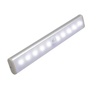 baratos Luzes de LED para Armários-1 pc lâmpada sensor infravermelho led sob gabinete luz indução do corpo humano noite luz sensível pir indução luz sensor de movimento lâmpada de luz
