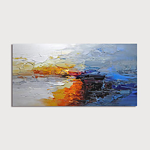 cheap Abstract Paintings-Oil Painting Hand Painted - Abstract Modern Stretched Canvas