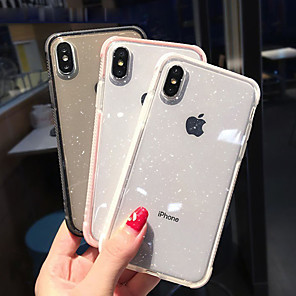 cheap iPhone Cases-Case For Apple iPhone XS / iPhone XR / iPhone XS Max Shockproof / Translucent Back Cover Glitter Shine Soft TPU