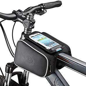 cheap Bike Frame Bags-ROSWHEEL Cell Phone Bag Bike Frame Bag Top Tube 5.5 inch Touch Screen Cycling for Samsung Galaxy S4 Iphone 5/5S iPhone 8/7/6S/6 Black Cycling / Bike / iPhone X / iPhone XR / iPhone XS / iPhone XS Max