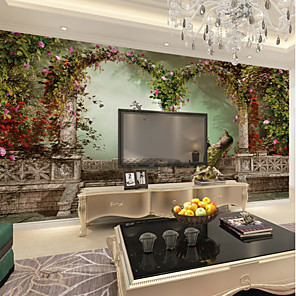 cheap Wallpaper-Wallpaper / Mural Canvas Wall Covering - Adhesive required Floral / Art Deco / 3D